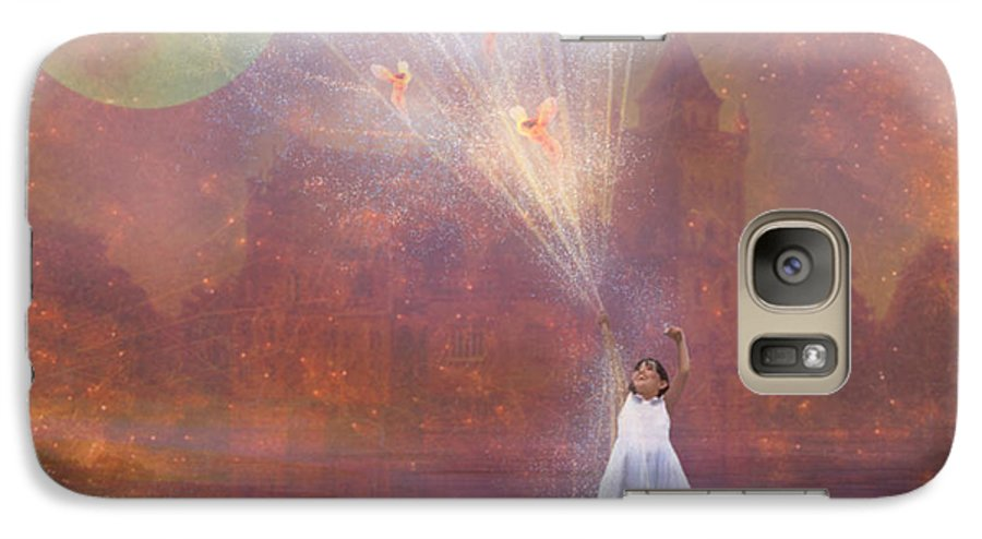 Fairyland Galaxy S7 Case featuring the painting Off To Fairy Land - By Way Of Fairyloons by Carrie Jackson