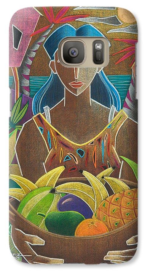 Female Galaxy S7 Case featuring the painting Ofrendas De Mi Tierra by Oscar Ortiz