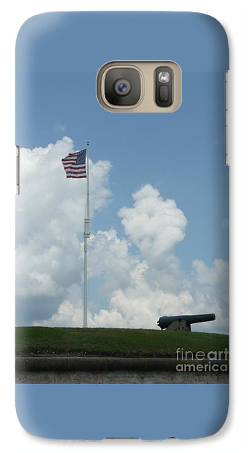 Flag Galaxy S7 Case featuring the photograph Oh Say Can You See by Barb Montanye Meseroll