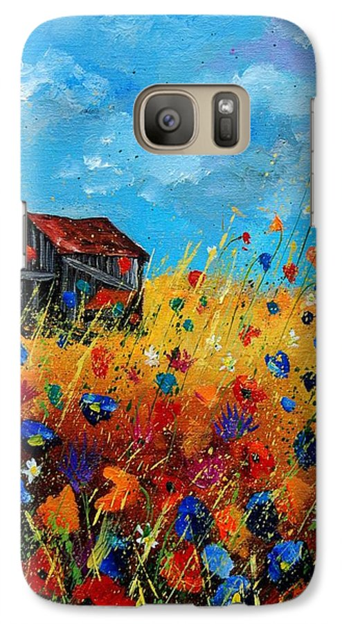 Poppies Galaxy S7 Case featuring the painting Old Barn by Pol Ledent