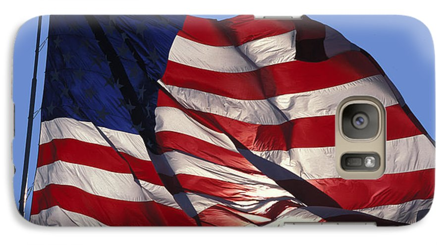 American Galaxy S7 Case featuring the photograph Old Glory by Carl Purcell