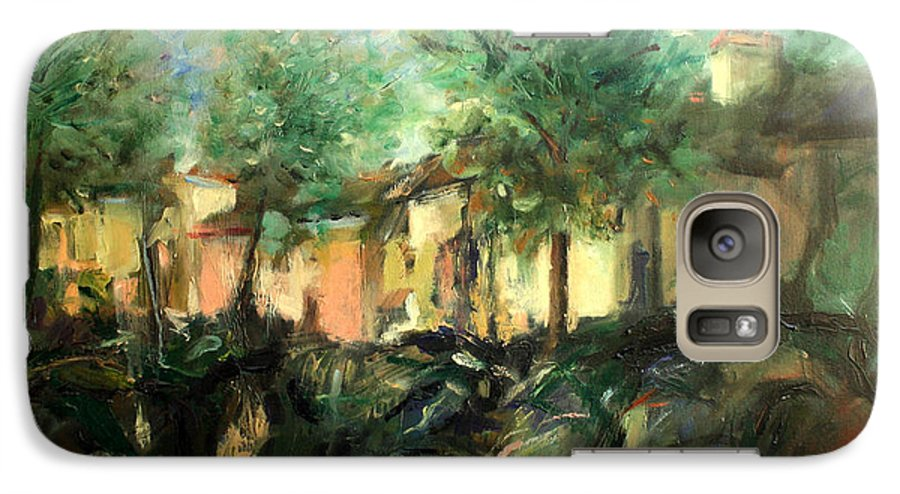 Old Houses Galaxy S7 Case featuring the painting Old Houses by Mario Zampedroni