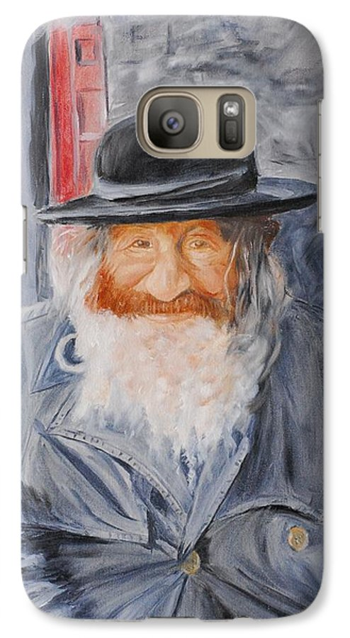 Jerusalem Galaxy S7 Case featuring the painting Old Man Of Jerusalem by Quwatha Valentine
