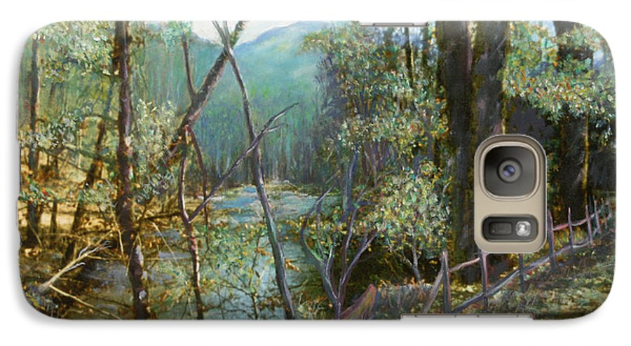 River; Trees; Landscape Galaxy S7 Case featuring the painting Old Man River by Ben Kiger