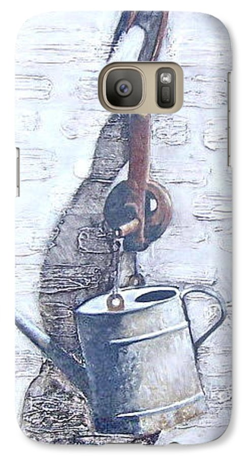 Old Metal Still Life Galaxy S7 Case featuring the painting Old Metal by Natalia Tejera