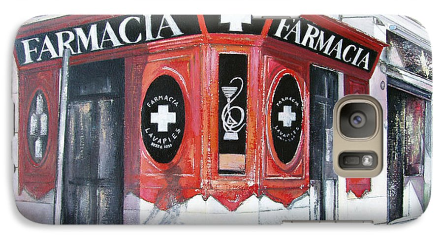 Pharmacy Galaxy S7 Case featuring the painting Old Pharmacy by Tomas Castano