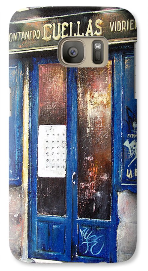 Old Galaxy S7 Case featuring the painting Old Plumbing-madrid by Tomas Castano