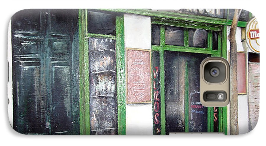 Bodegas Galaxy S7 Case featuring the painting Old Tavern-madrid by Tomas Castano