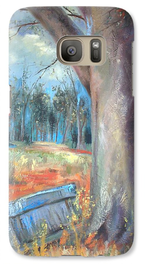 Country Scenes Galaxy S7 Case featuring the painting Old Times by Ginger Concepcion