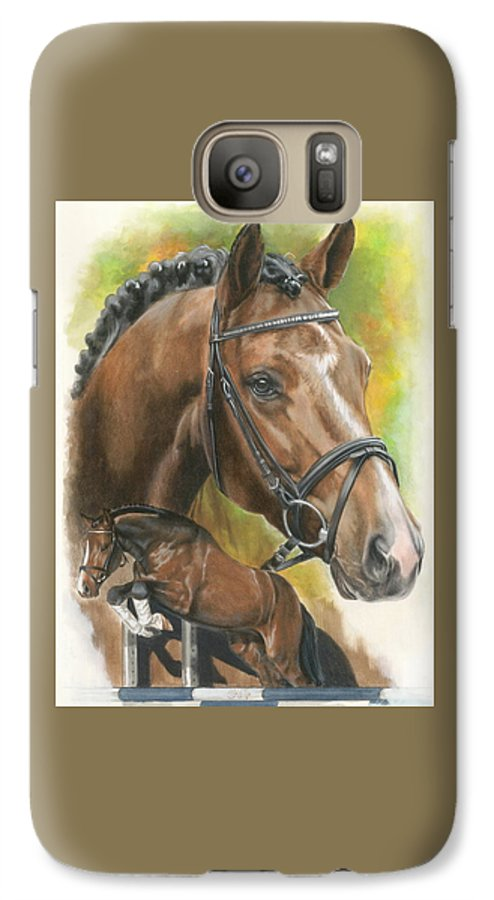 Horse Galaxy S7 Case featuring the mixed media Oldenberg by Barbara Keith