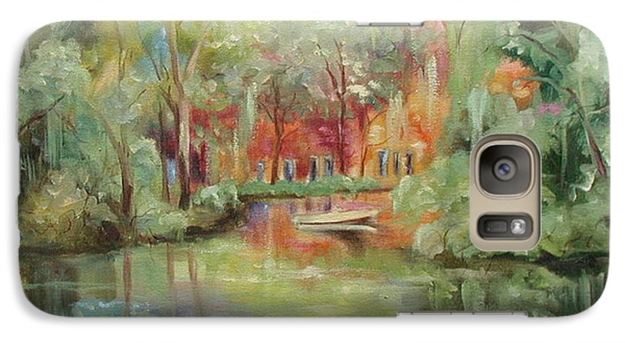 Bayou Galaxy S7 Case featuring the painting On A Bayou by Ginger Concepcion