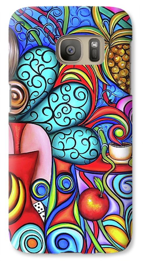 Cuba Galaxy S7 Case featuring the painting On My Mind by Annie Maxwell