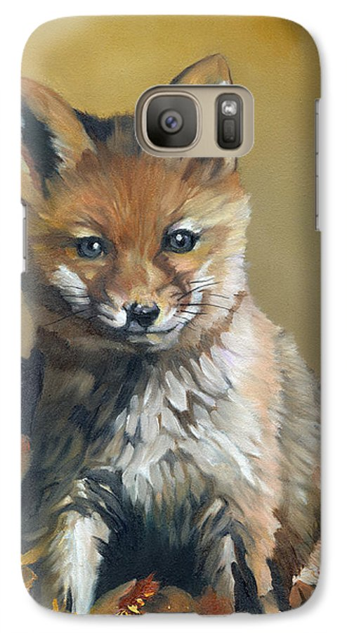 Fox Galaxy S7 Case featuring the painting Once Upon A Time by J W Baker