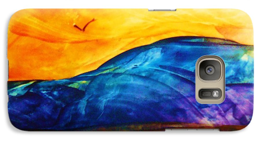 Landscape Galaxy S7 Case featuring the painting One Fine Day by Melinda Etzold
