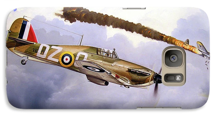 Aviation Art Galaxy S7 Case featuring the painting One Of The Few by Marc Stewart