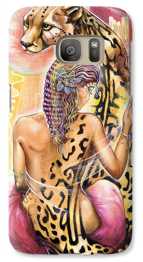 Animals Galaxy S7 Case featuring the painting Oneness by Blaze Warrender