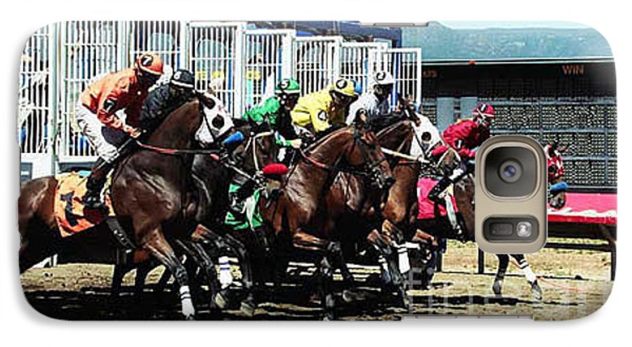 Horse Galaxy S7 Case featuring the photograph Only A Mile To Go by Kathy McClure