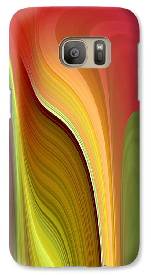 Abstract Galaxy S7 Case featuring the digital art Oomph by Ruth Palmer