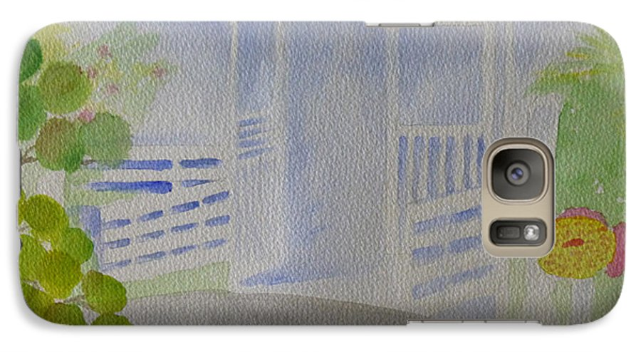The Fishery Galaxy S7 Case featuring the painting Open Door Policy by Debbie Kiewiet