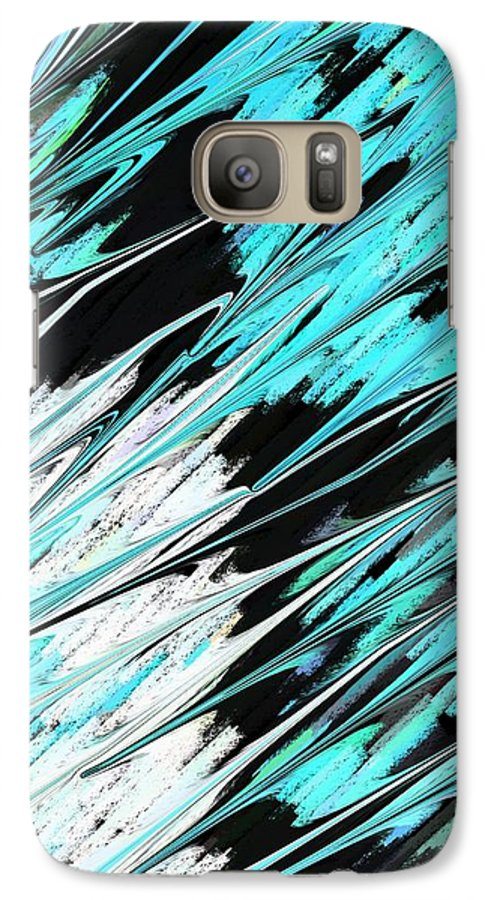 Abstract Galaxy S7 Case featuring the photograph Opposites Attract by Florene Welebny