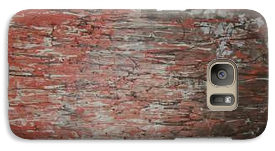 Abstract Galaxy S7 Case featuring the painting Orange Crush by Elizabeth Klecker