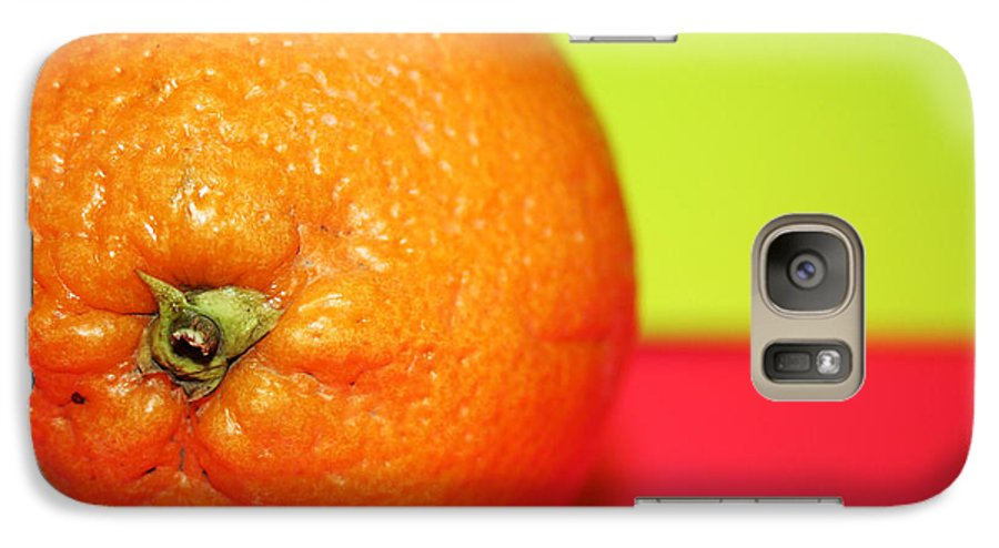 Oranges Galaxy S7 Case featuring the photograph Orange by Linda Sannuti