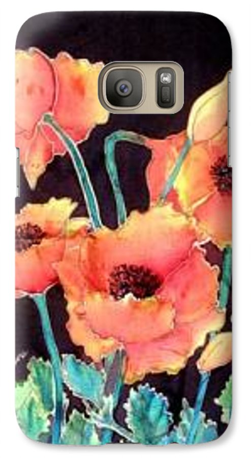 Poppies Galaxy S7 Case featuring the painting Orange Poppies by Francine Dufour Jones
