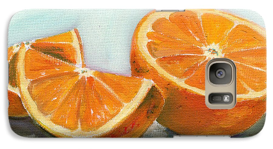 Oil Galaxy S7 Case featuring the painting Orange by Sarah Lynch