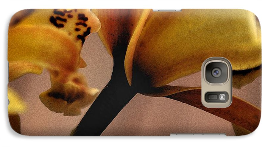 Orchid Galaxy S7 Case featuring the photograph Orchid Yellow by Michael Ziegler