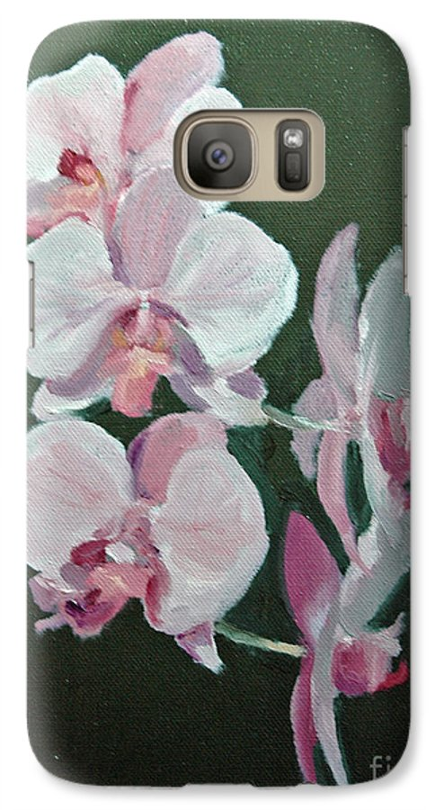 Floral Galaxy S7 Case featuring the painting Orchids For Didi by Glenn Secrest