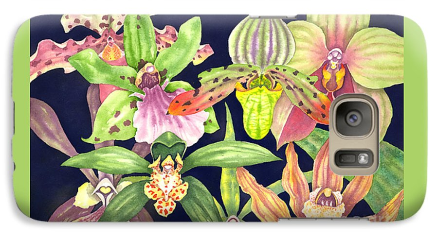 Orchids Galaxy S7 Case featuring the painting Orchids by Lucy Arnold