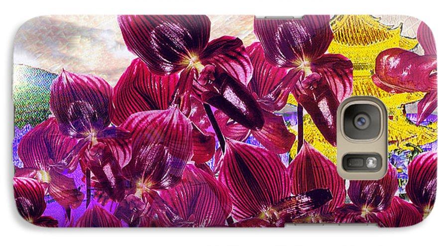 Far East Galaxy S7 Case featuring the digital art Oriental Orchid Garden by Seth Weaver