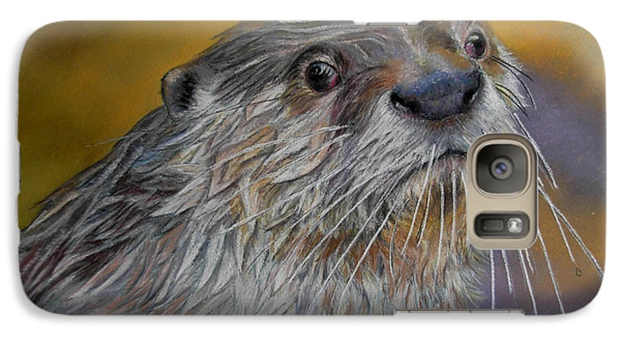 River Otter Galaxy S7 Case featuring the painting Otter Or Not by Ceci Watson