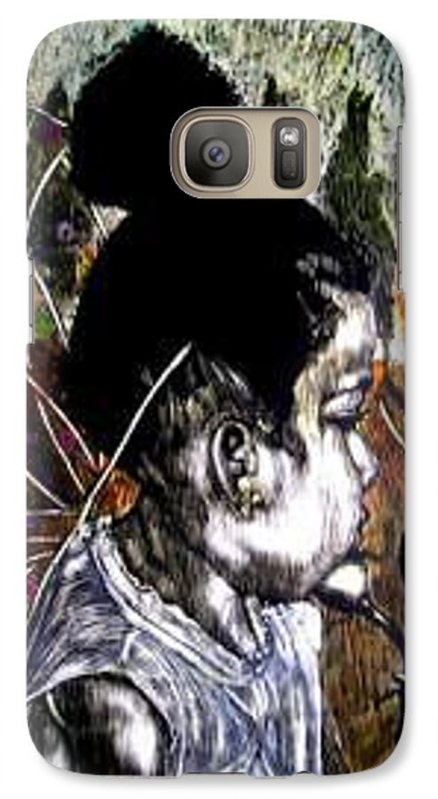Fantasy Galaxy S7 Case featuring the mixed media Our Farie Princess by Chester Elmore