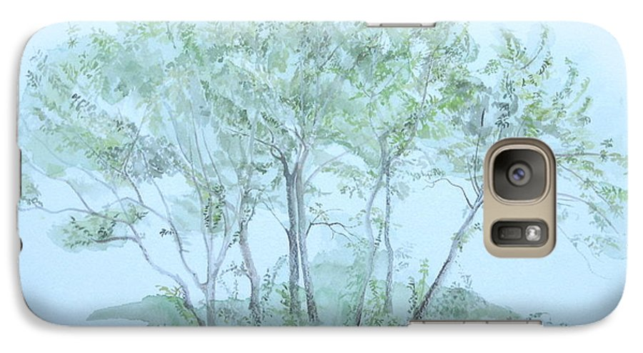 Trees Galaxy S7 Case featuring the painting Outer Banks by Leah Tomaino