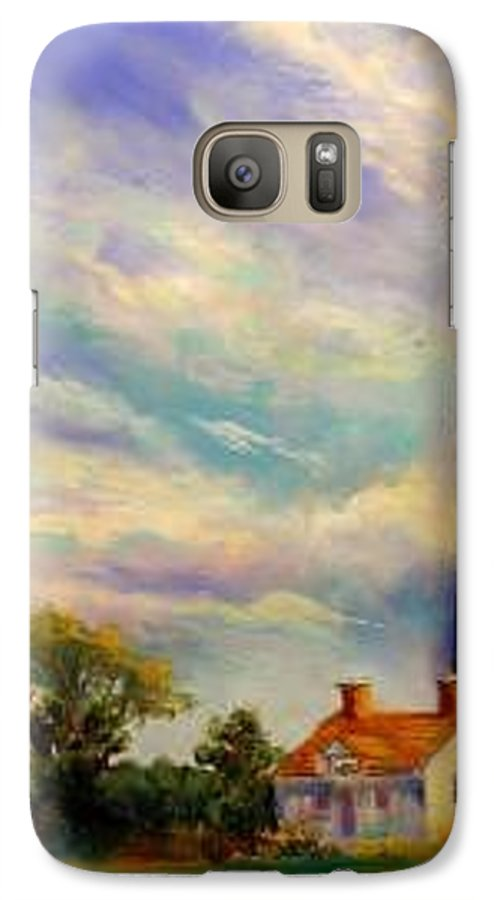 Lighthouse Galaxy S7 Case featuring the painting Outer Banks Lighthouse by Lynee Sapere