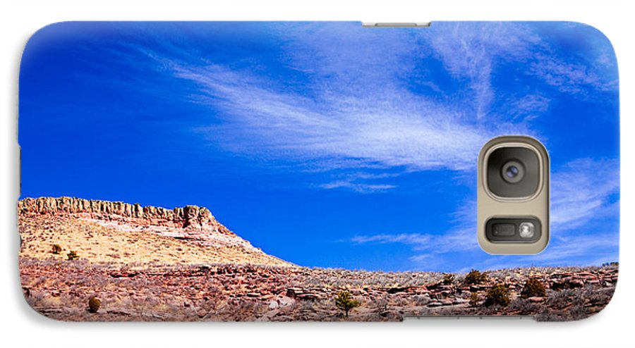Red Galaxy S7 Case featuring the photograph Outside Lyons Colorado by Marilyn Hunt