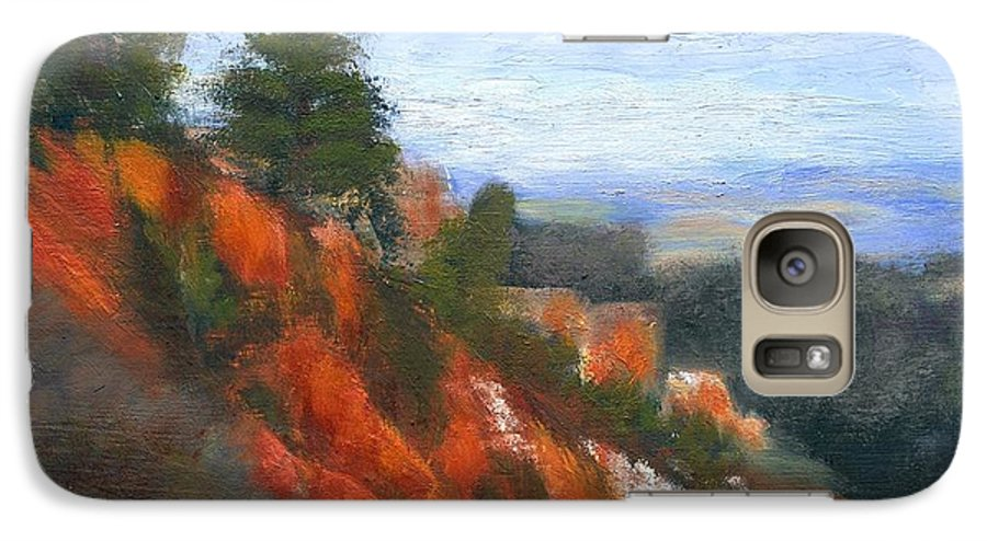 Southwest Galaxy S7 Case featuring the painting Overlook by Gail Kirtz