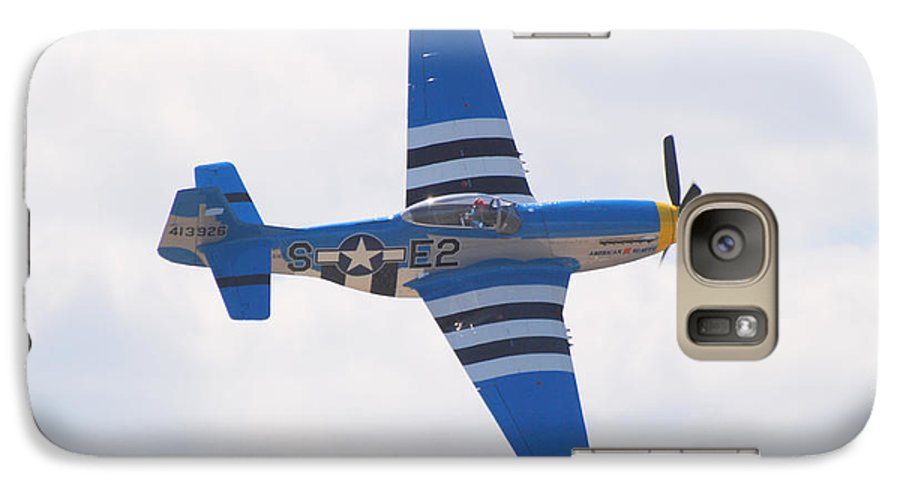 P 51 Galaxy S7 Case featuring the photograph P-51 Mustang American Rose by Larry Keahey