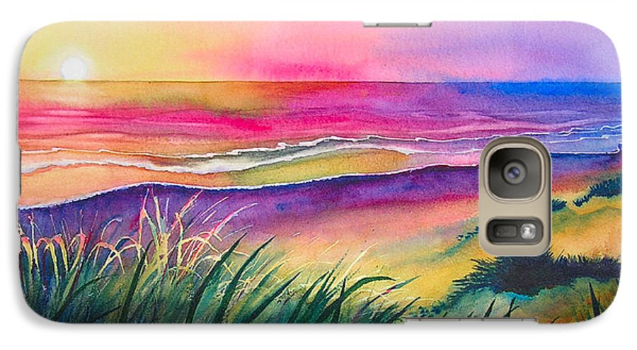 Pacific Galaxy S7 Case featuring the painting Pacific Evening by Karen Stark