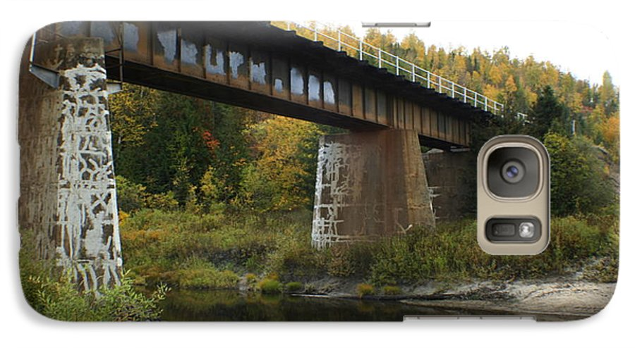 Bridge Galaxy S7 Case featuring the photograph Pack River Bridge by Idaho Scenic Images Linda Lantzy