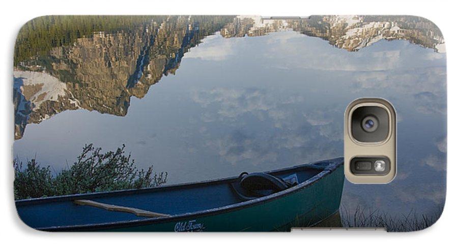 Canoe Galaxy S7 Case featuring the photograph Paddle To The Mountains by Idaho Scenic Images Linda Lantzy