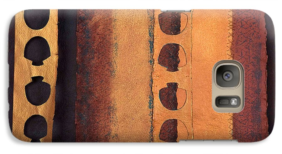 Pageformat Galaxy S7 Case featuring the mixed media Page Format No 3 Tansitional Series  by Kerryn Madsen-Pietsch