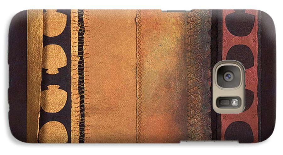 Artistbook Galaxy S7 Case featuring the painting Page Format No.4 Tansitional Series by Kerryn Madsen-Pietsch