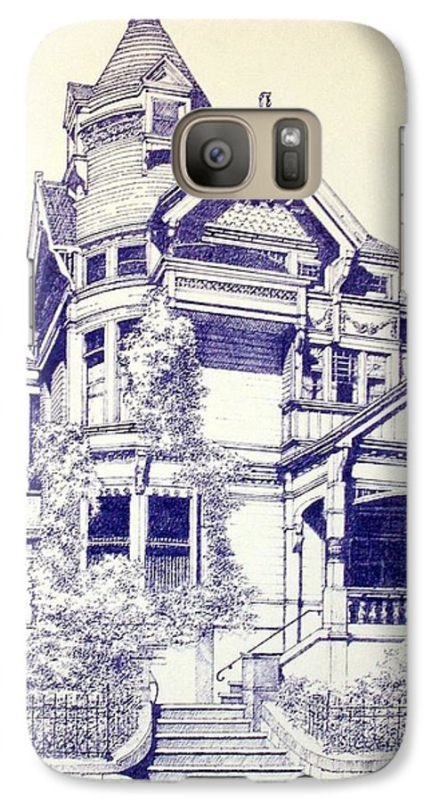 Victorian Mansions Houses Architecture Homessan Francisco Galaxy S7 Case featuring the painting Painted Lady by Tony Ruggiero