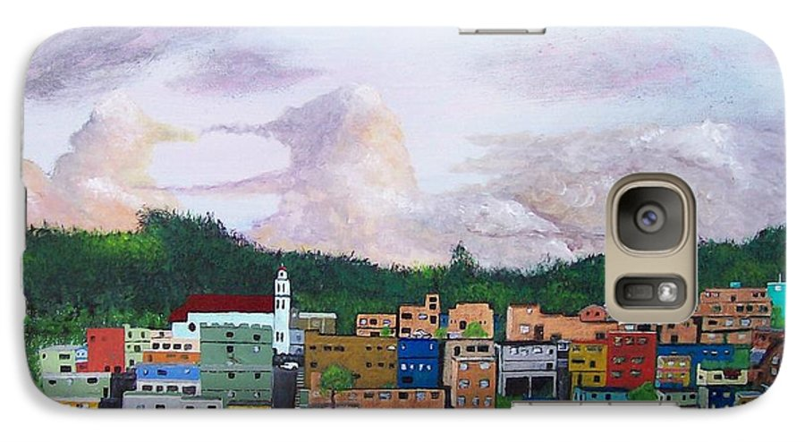 Painting The Town Galaxy S7 Case featuring the painting Painting The Town by Tony Rodriguez