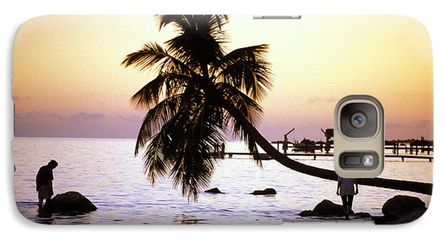 Sunset Galaxy S7 Case featuring the photograph Palm At The Moorings by Carl Purcell