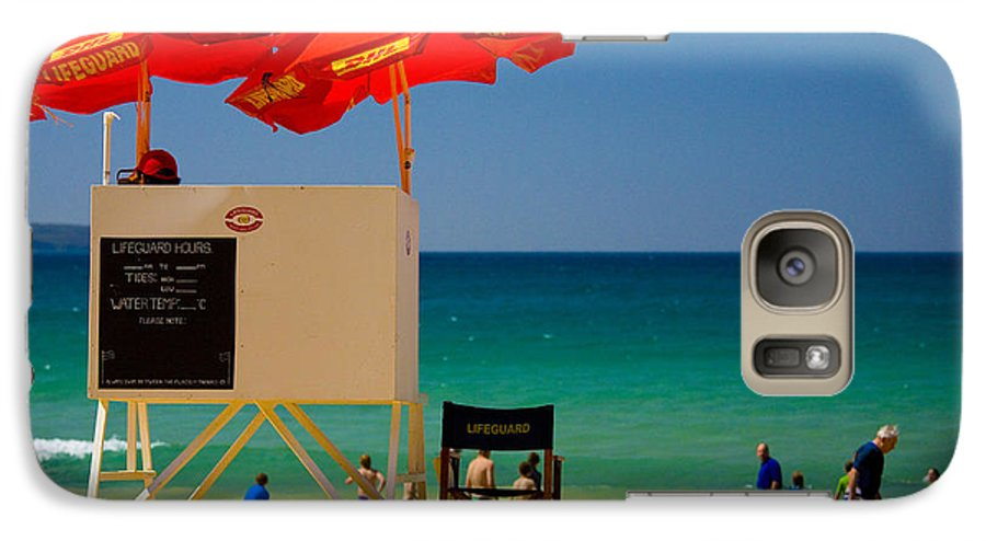 Palm Beach Sun Sea Sky Beach Umbrellas Galaxy S7 Case featuring the photograph Palm Beach Dreaming by Sheila Smart Fine Art Photography