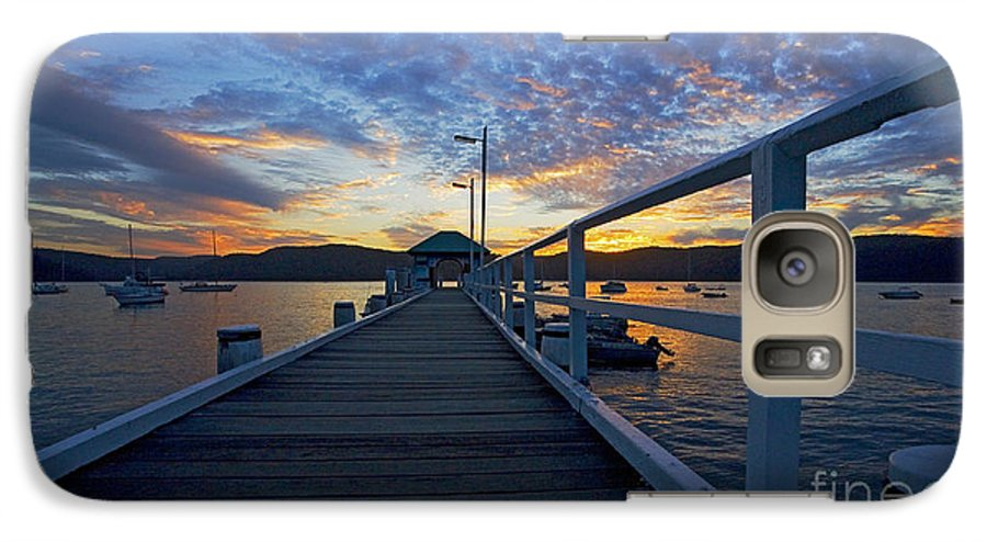 Palm Beach Sydney Wharf Sunset Dusk Water Pittwater Galaxy S7 Case featuring the photograph Palm Beach Wharf At Dusk by Avalon Fine Art Photography