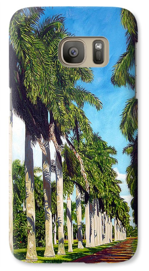Palms Galaxy S7 Case featuring the painting Palms by Jose Manuel Abraham